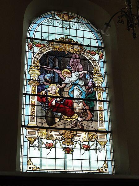 Pexonne (M-et-M) église, vitrail