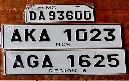 Vehicle Registration Plates Of The Philippines Wikiwand