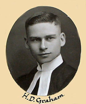 Howard Graham (Canadian Army officer) - Osgoode Hall Law School photo, 1921