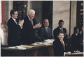 Photograph of President Reagan giving the State of the Union Address to Congress - NARA - 198546.tif
