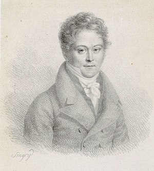 Pierre Baillot - Pierre Baillot, c. 1810,  etching by Singry after medallion design by Romagnési.