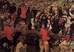 The Procession to Calvary (Bruegel) - Detail 2 from centre right