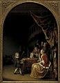 Pieter Cornelisz. van Slingelandt - Scene from a Wealthy Dutch Home - KMSsp601 - Statens Museum for Kunst.jpg