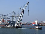 Pieter L & Matador 2 and Hanjin-containership.jpg
