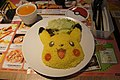 Pikachu style yellow rice and set lunch in restaurant.jpg