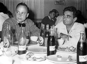 Nesher Malt - Bottles of Nesher Malt beer served in Israel during the 1950s