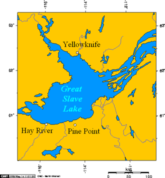 Pine Point, Northwest Territories - Pine Point, Northwest Territories, Canada.