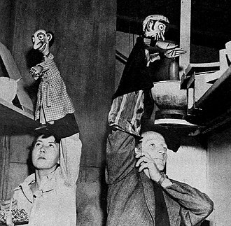 Foodini the Great - Pinhead (left) and Foodini as performed by their creators, Hope and Morey Bunin, in 1949.