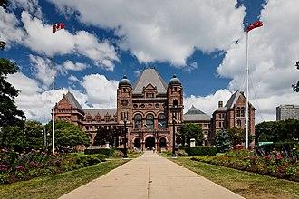 Ontario Legislative Building - The south façade of the Ontario Legislative Building