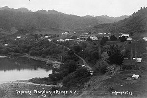 Pipiriki - Taken in the early 20th century, this shows Pipiriki House, accommodation for the popular tourist excursion by riverboat from Whanganui.