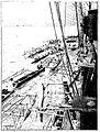Pirogues à balancier wallisiennes entourant un navire (aviso) français, 1900.jpg