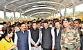 Piyush Goyal, the Chief Minister of Maharashtra, Shri Devendra Fadnavis, the Minister of State for Defence, Dr. Subhash Ramrao Bhamre and the Minister of State for Railways.jpg