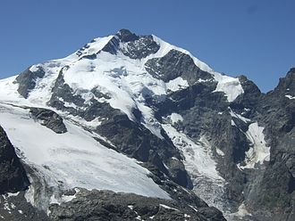 Western Rhaetian Alps - Piz Bernina, the highest mountain of the range