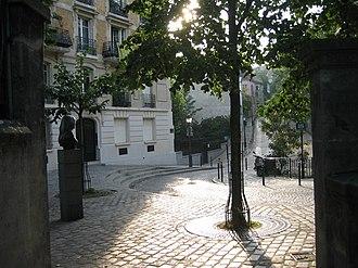Place Dalida - Place Dalida and Rue de l'Abreuvoir