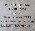 Place Guichard (Lyon) - plaque Blaise Davi.jpg