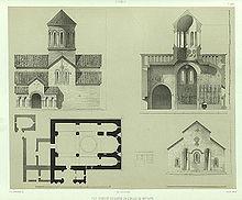 Plano del monasterio de Betania por el príncipe Grigori Gagarin , 1847