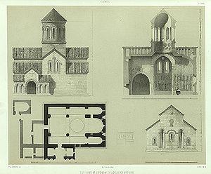 Betania Monastery - Plan of the Betania monastery per Prince Grigory Gagarin, 1847.