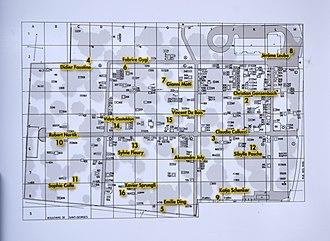 Cimetière des Rois - Map of the Kings Cemetery, Geneva.