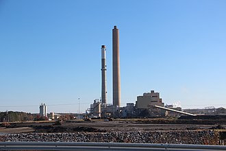 Coosa, Georgia - Plant Hammond, a coal-fired power plant in Coosa