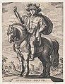 Plate 2- Emperor Augustus on Horseback, from 'The First Twelve Roman Caesars', after Tempesta MET DP857114.jpg