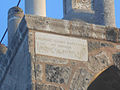 Plate on top of the belltower of Panagina Theotokos in Iskele Cyprus.jpg