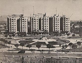 Plaza Baquedano - Old Picture of Plaza Baquedano in 1938
