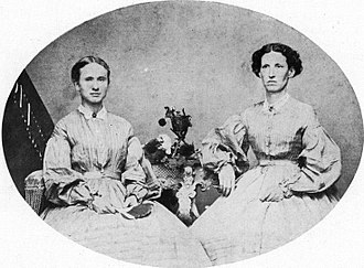 Emporia State University - Ellen Plumb, right, and Mary J. Watson, left, the first graduating class of the Kansas State Normal School in 1867.