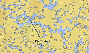 Point Lake - Map