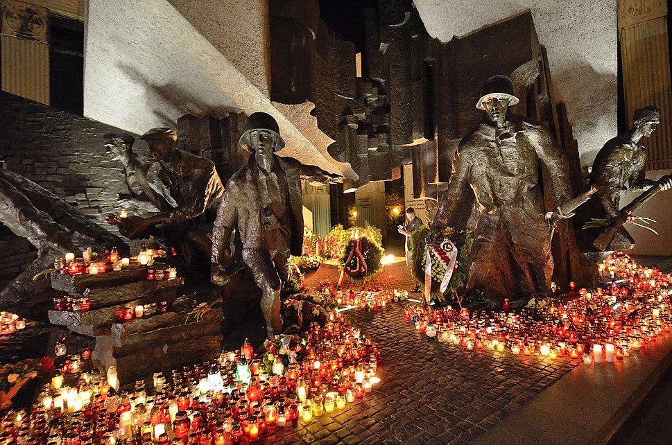 Pomnik Powstania Warszawskiego 1 sierpnia 2015