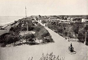 Pondicherry - Pondicherry waterfront circa 1900