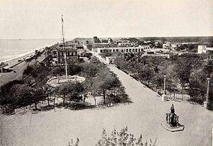 Pondicherry - Pondicherry waterfront circa 1900