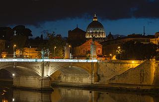 Ponte Vittorio Emanuele II San Pietro, Rome, Italy