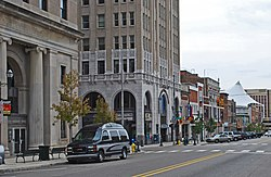 The Pontiac Commercial Historic District in September 2010.