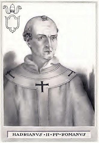 Roman Catholic Archbishopric of Moravia - Pope Adrian II who consecrated Methodius bishop