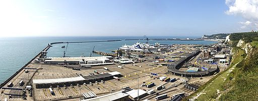 Port of Dover - view from the White Cliffs-4101-03