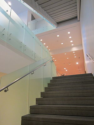 Portland Art Museum - A staircase inside the museum