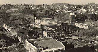 Portland Woolen Mills - The Portland Woolen Mills in 1935