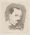 Portrait of Charles Baudelaire, after his own design of 1848 MET DP813998.jpg