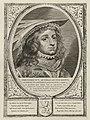 Portret van Dirk IV, graaf van Holland, met een hoofddeksel. De omlijsting is versierd met het wapen van Holland. NL-HlmNHA 1477 53012903.JPG