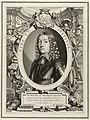 Portret van Willem VI, landgraaf van Hessen-Kassel, in een allegorische omlijsting. Links Mercurius en attributen waaronder lier, caduceus en een hoorn des overvloeds. Rechts een tweede alle, NL-HlmNHA 1477 53009801.JPG
