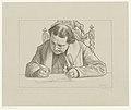 Portret van schrijvende Abraham Kuyper Bekende tijdgenooten (serietitel), RP-P-1897-A-19461.jpg