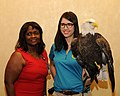 Posing for picture with Bald Eagle. (10597034715).jpg