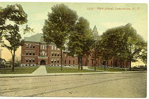 Jamestown High School (New York) - Image: Postcard Jamestown High Jamestown NY19061916