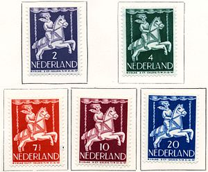 Jeanne Bieruma Oosting - Stamps of the Netherlands, 1946