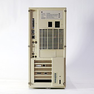 Power Macintosh 9500 - Rear view of a Power Macintosh 9500/132.