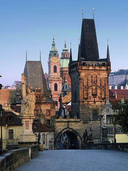 File:Prague charles bridge mala strana tower.jpg