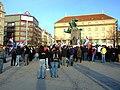 Praha, Palackého náměstí, Demonstrace proti nezávislosti Kosova.JPG