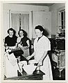 Preparing for the Seder in the kitchen of the Community House, Biloxi, Miss., April 13, 1949 (4503120680).jpg