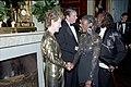 President Ronald Reagan and Nancy Reagan greet Miles Davis and Cicely Tyson.jpg