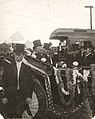 President Theodore Roosevelt in Carriage with Three Other Men in Sherman, Texas (15176843326).jpg